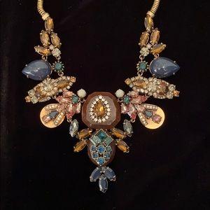 J. Crew statement bib gemstone necklace